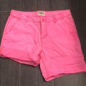 Girls neon pink OshKosh shorts size 8